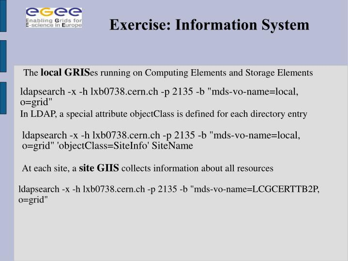 Exercise: Information System