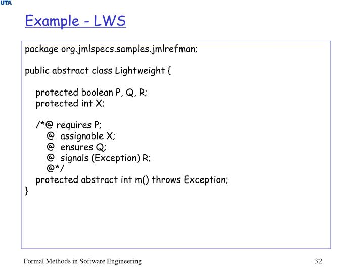 Example - LWS