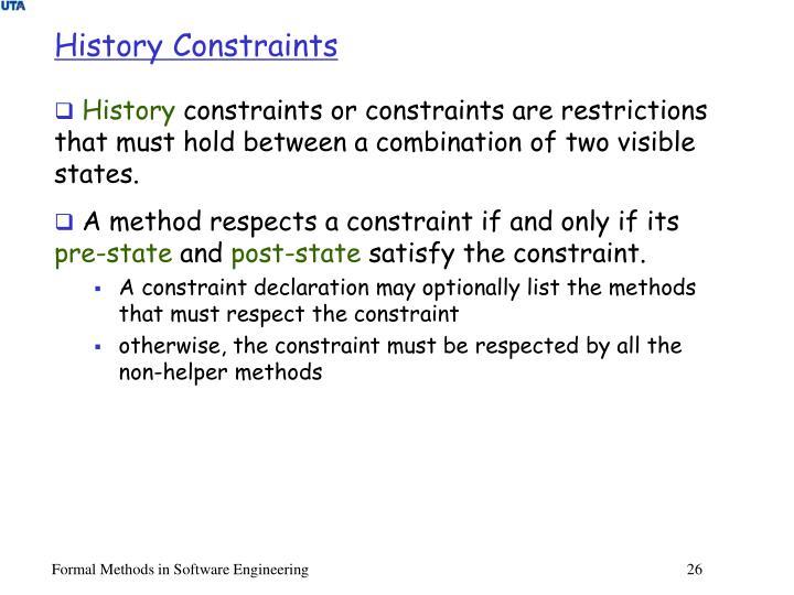 History Constraints