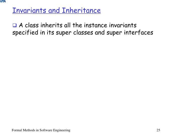 Invariants and Inheritance