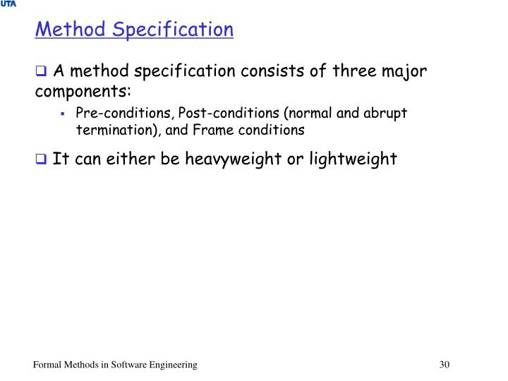 Method Specification