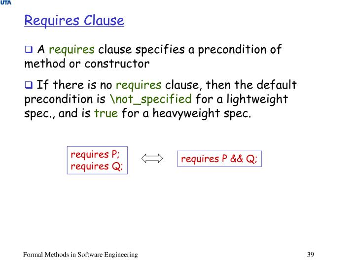 Requires Clause