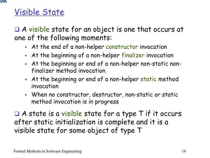 Visible State