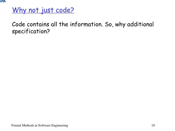 Why not just code?