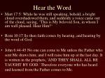 hear the word1