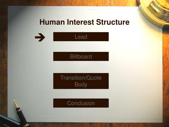 Human Interest Structure