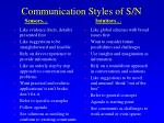 communication styles of s n