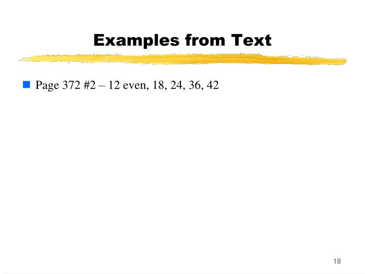 Examples from Text
