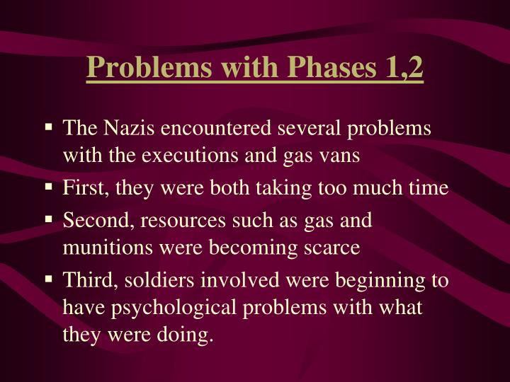 Problems with Phases 1,2