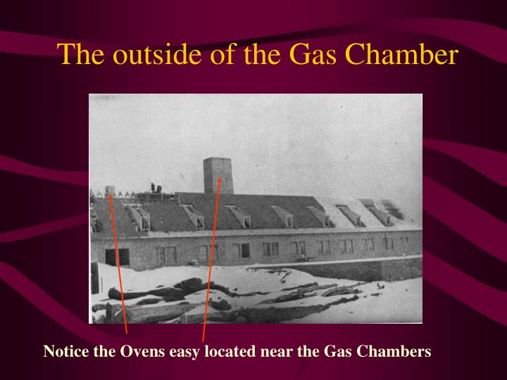 Notice the Ovens easy located near the Gas Chambers