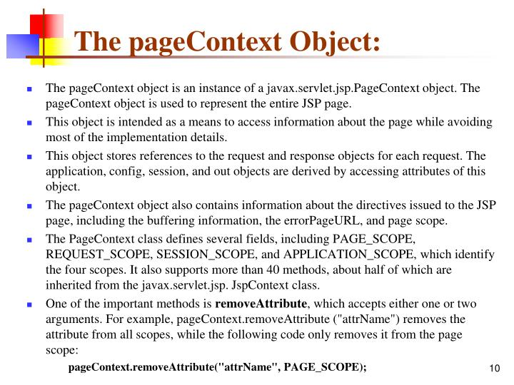 The pageContext Object: