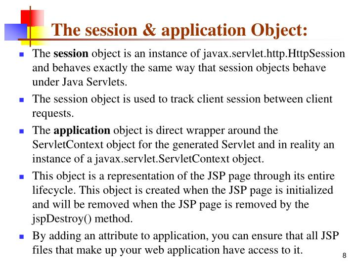 The session & application Object:
