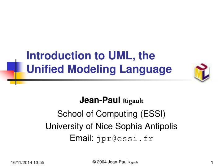 introduction to uml the unified modeling language n.