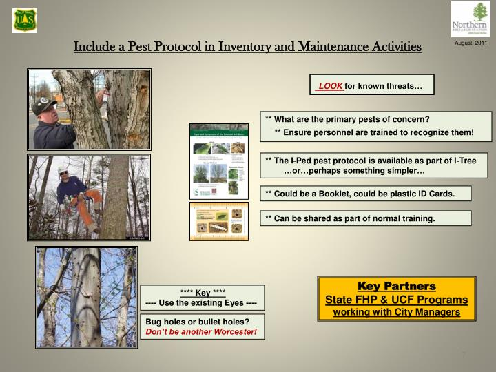 Include a Pest Protocol in Inventory and Maintenance Activities
