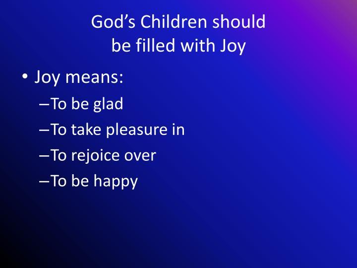 God's Children should