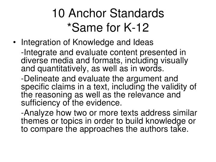 10 Anchor Standards