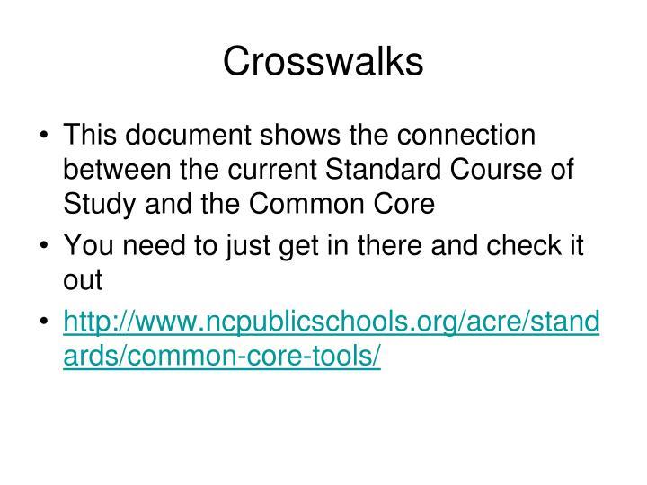 Crosswalks