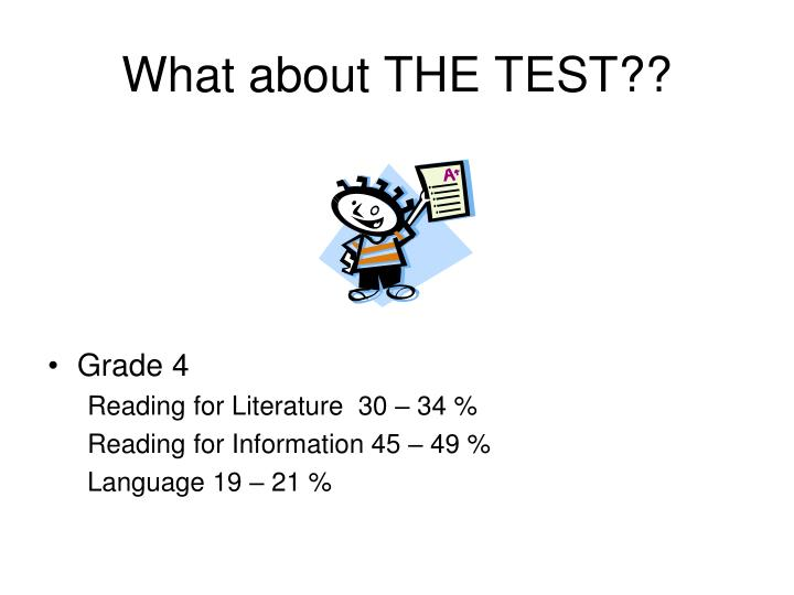 What about THE TEST??