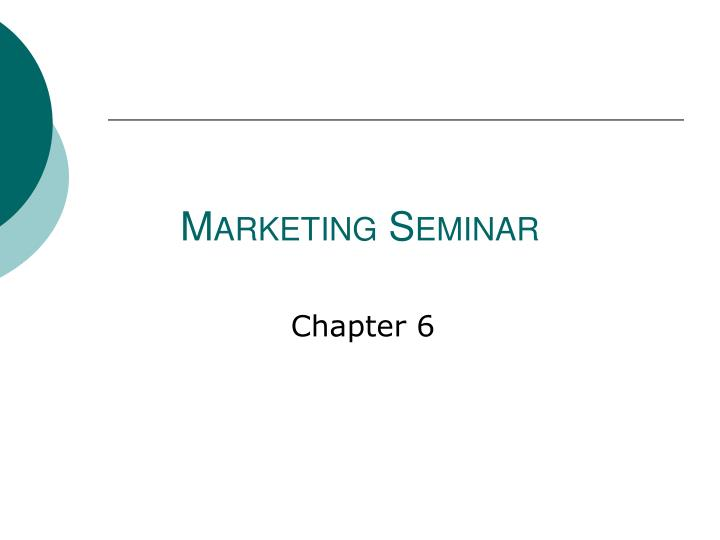 marketing seminar n.