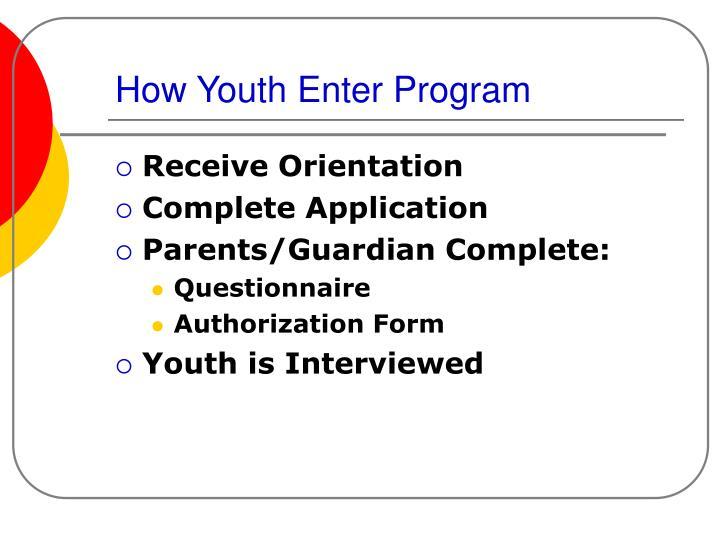 How Youth Enter Program