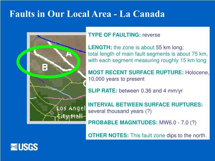 Faults in Our Local Area - La Canada