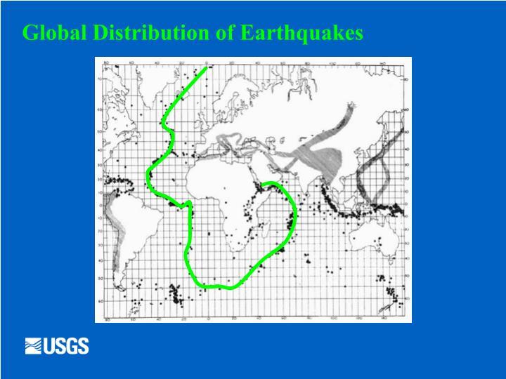 Global distribution of earthquakes