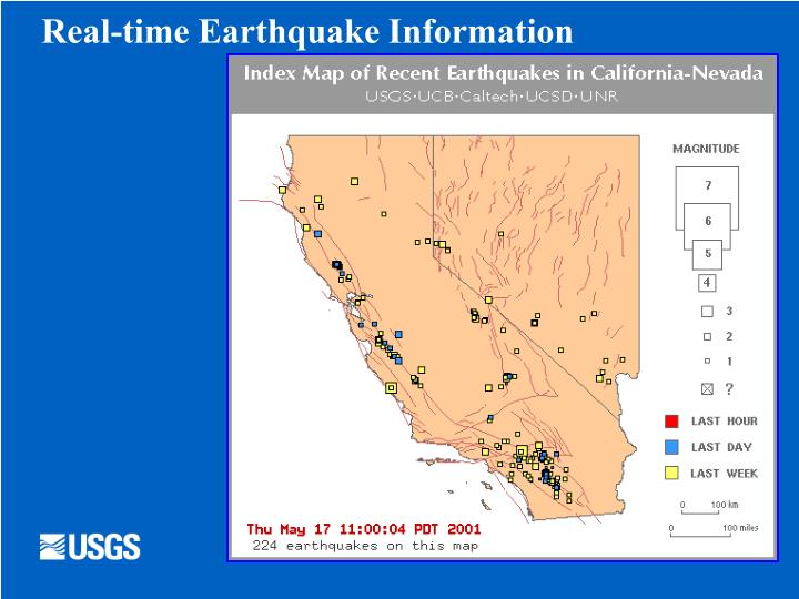 Real-time Earthquake Information