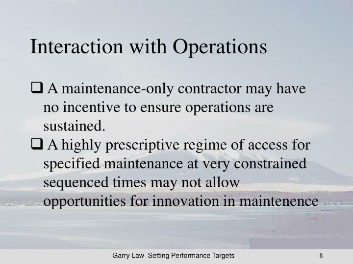Interaction with Operations