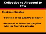 collective to airspeed to yaw