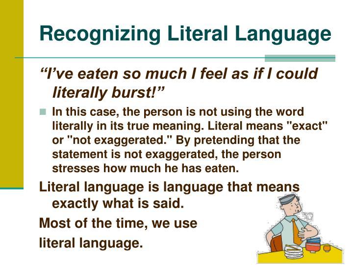 literal language