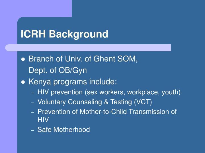 ICRH Background