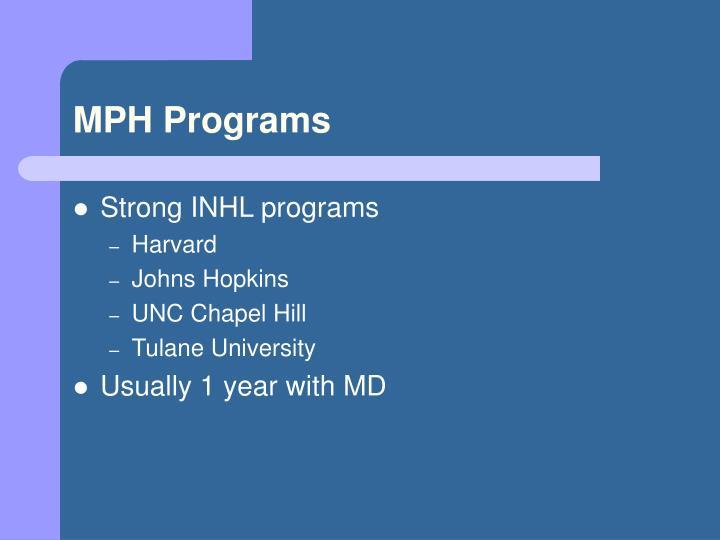 MPH Programs