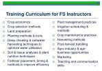 training curriculum for fs instructors