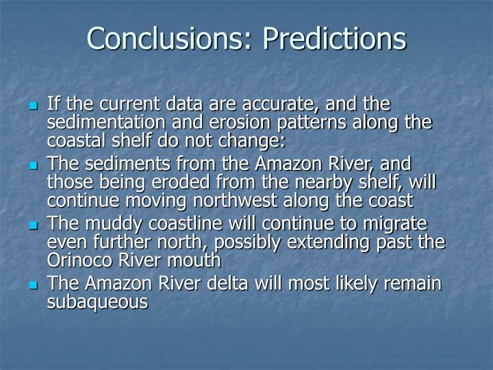 Conclusions: Predictions