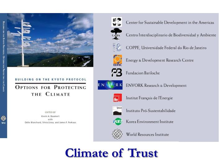 Climate of Trust