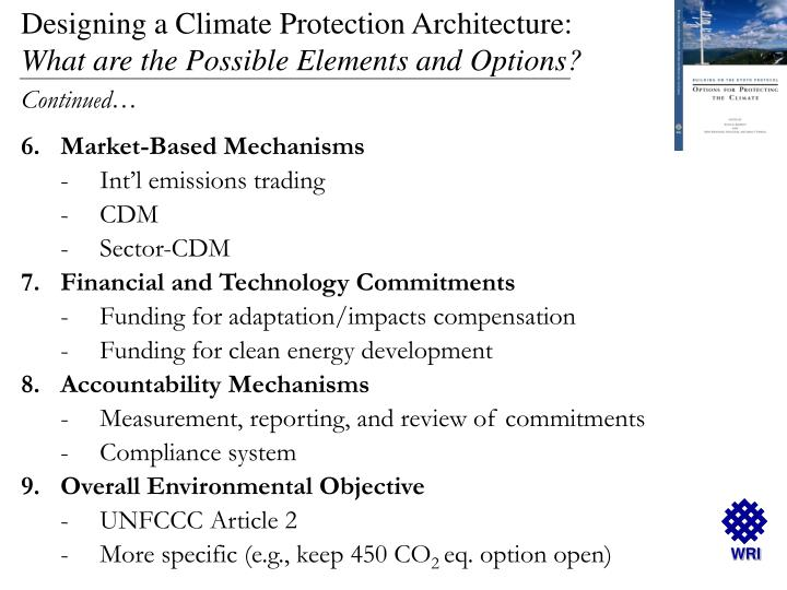 Designing a Climate Protection Architecture: