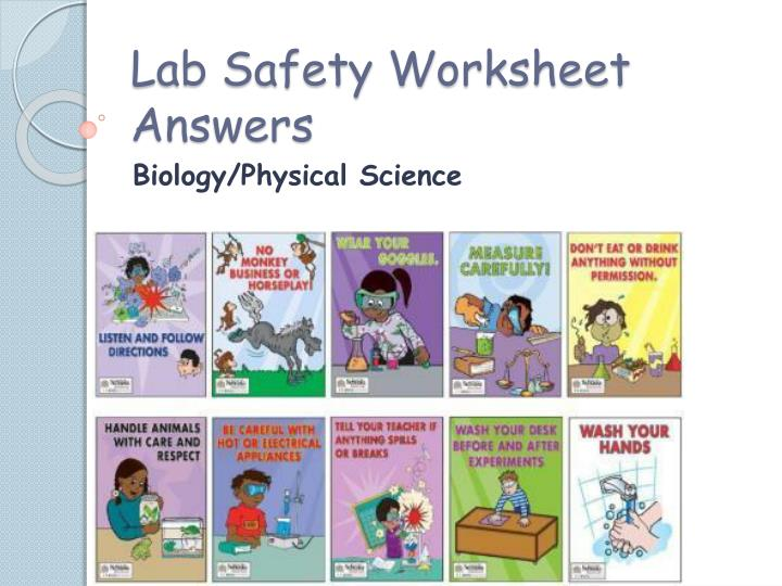 Ppt Lab Safety Worksheet Answers Powerpoint Presentation