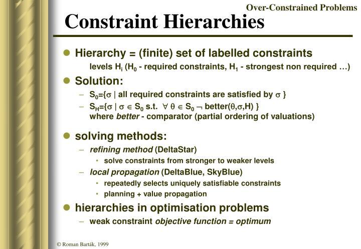Constraint Hierarchies