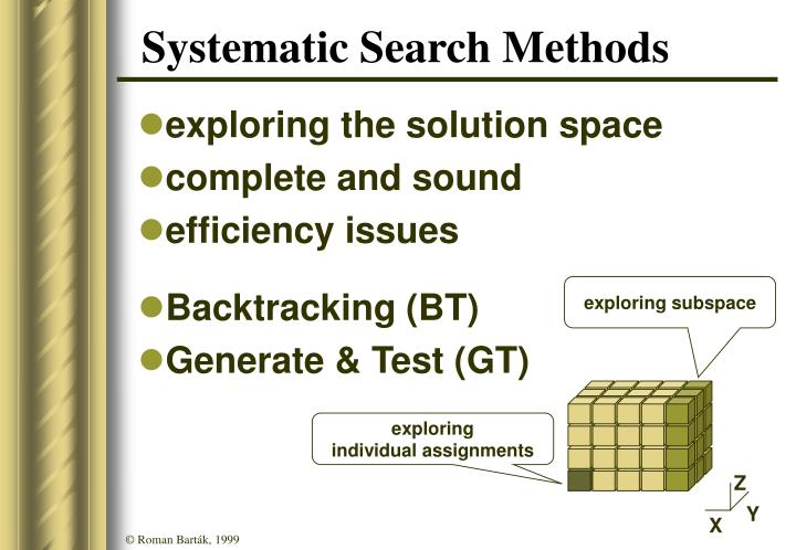Systematic Search Methods