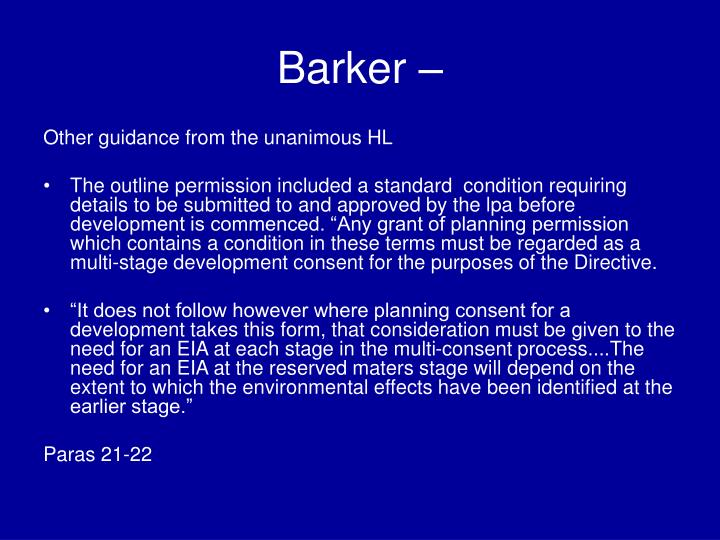 Barker –