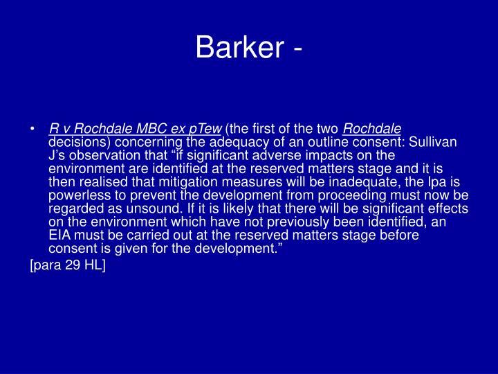 Barker -