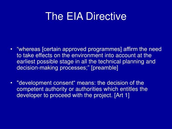 The EIA Directive