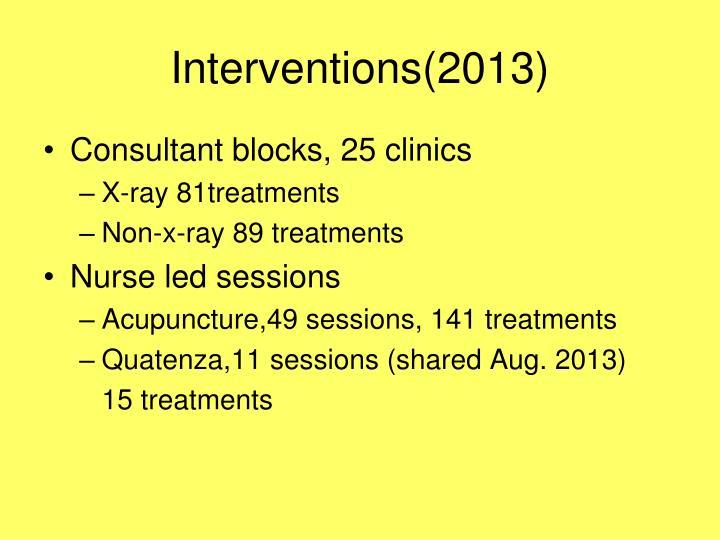 Interventions(2013)