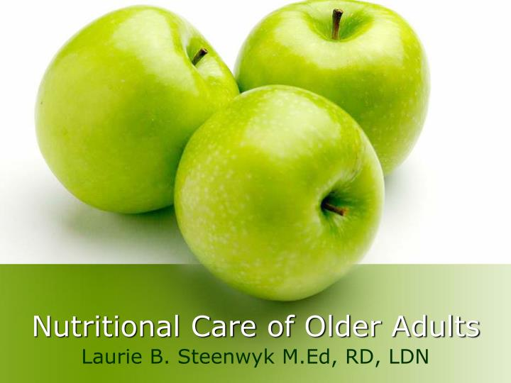 nutritional care of older adults n.