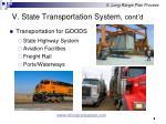 v state transportation system cont d