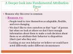 a deeper look into fundamental attribution error
