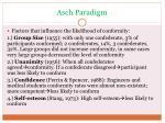 asch paradigm