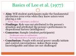 basics of lee et al 1977