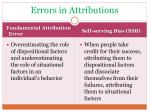 errors in attributions