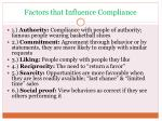 factors that influence compliance